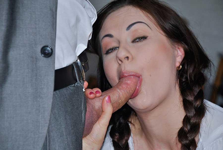 Tina Kay school girl sucking her teachers cock
