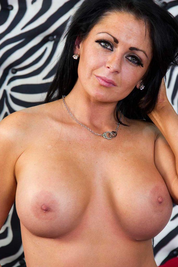 Saskia Webb seduces a well hung stud with her big juicy tits